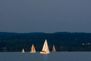 Sailing at Dusk free stock photo