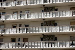 Apartment balconies free stock image