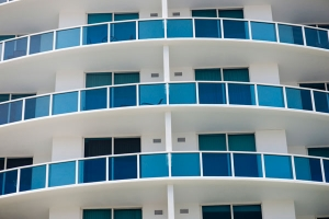 Colorful balconies free stock photo