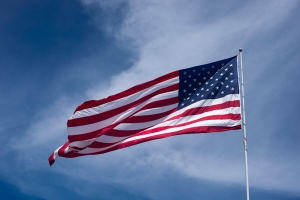 Giant American flag free stock image