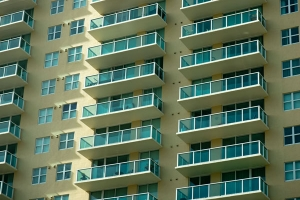 Apartment building exterior free stock image