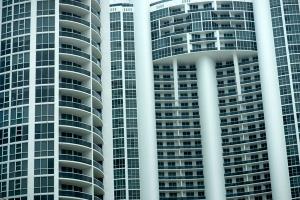 Miami apartment building exterior free stock image
