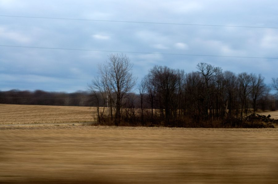 Fields near the highway in Indiana
