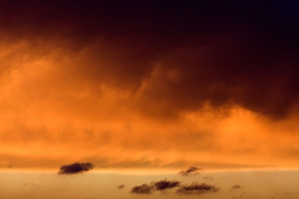 Vibrant sunset above Austin, Texas.
