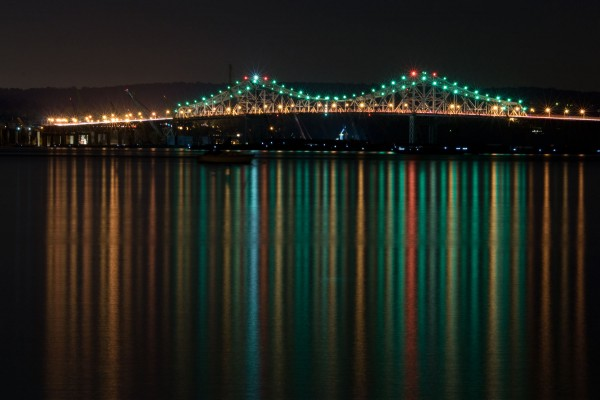 Tappan Zee Bridge at night