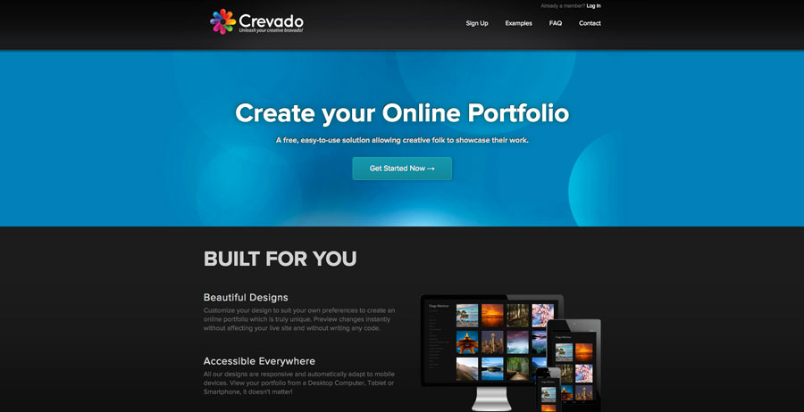 crevado.com homepage screenshot