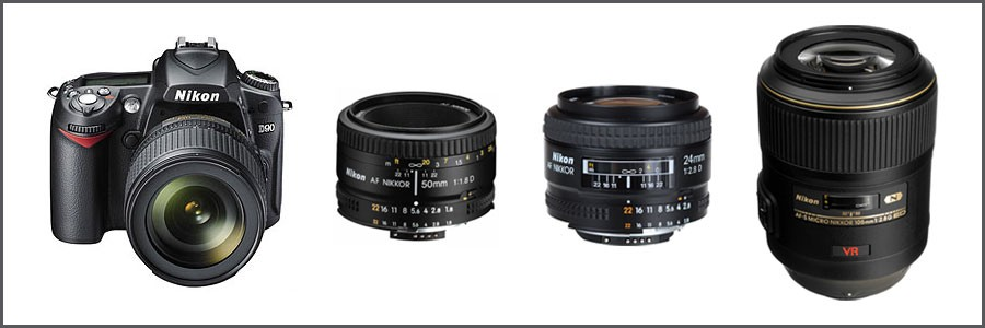 Nikon DSLR and lenses