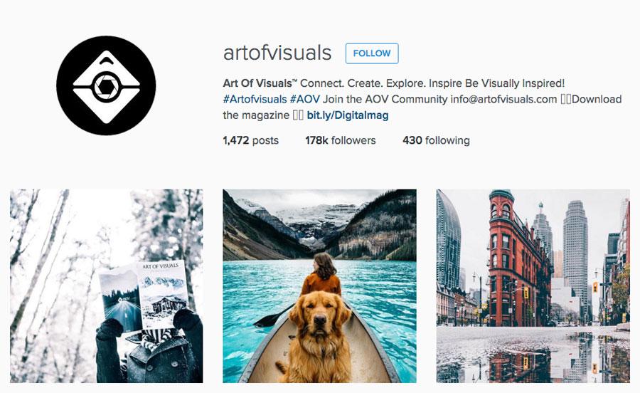 Artofvisuals on instagram