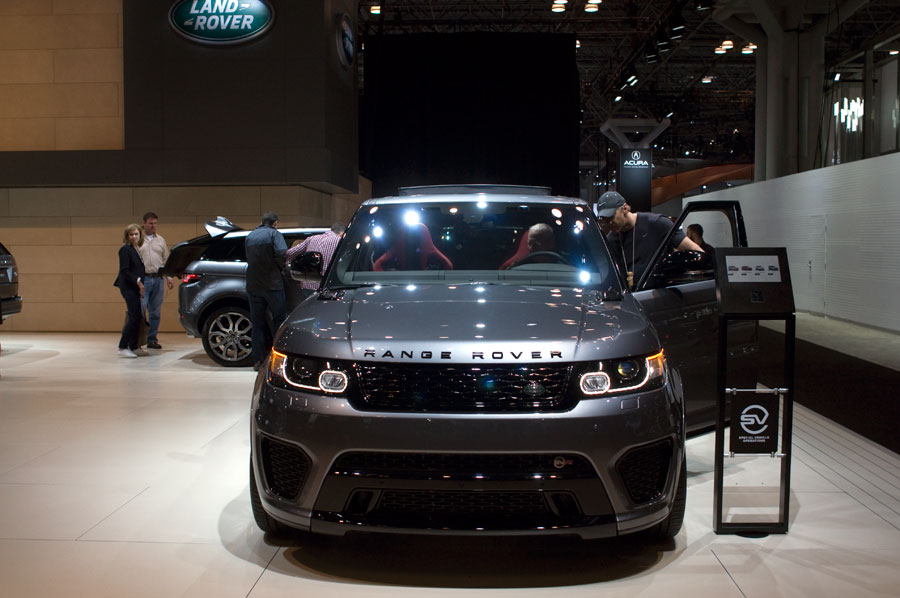 All-new Range Rover on display at the 2016 NY Intn'l Auto Show.