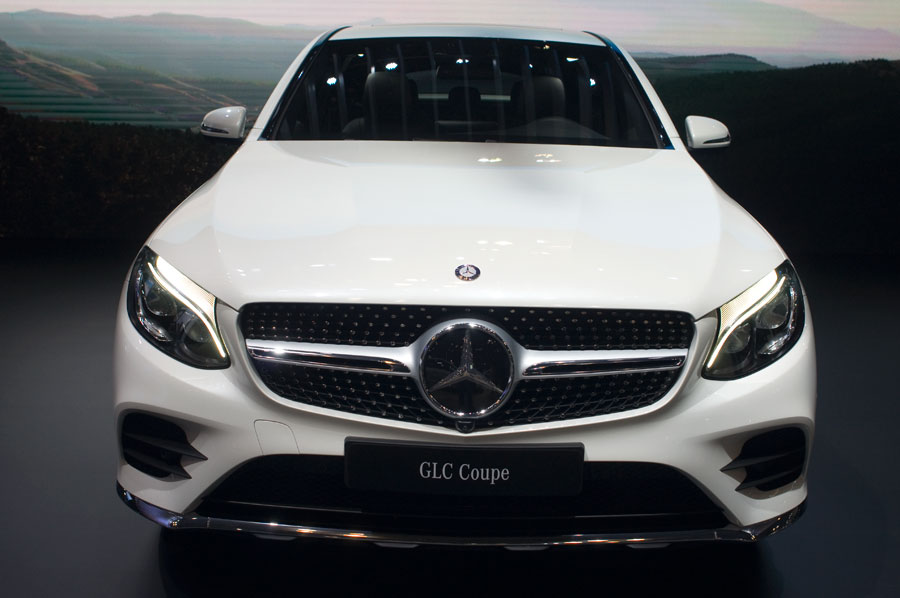 2017 Mercedes-GLC-Coupe at the 2016 NY Int'l Auto Show in New York City.