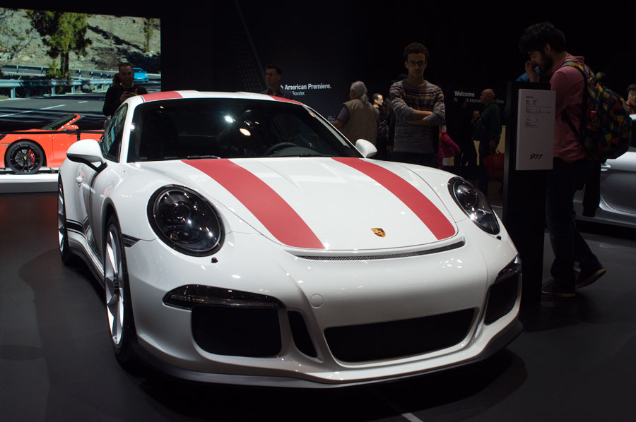Porsche 911 R, as seen at the 2016 New York International Auto Show at the Javits Center.