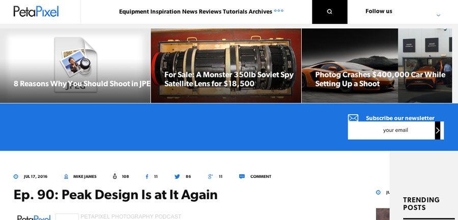 PetaPixel.com screenshot