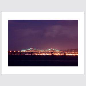 Tappan Zee Bridge and purple night sky, taken from Piermont, New York.