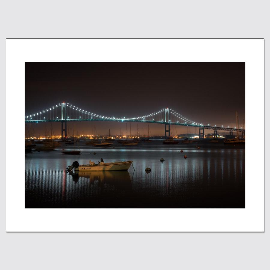 Claiborne Pell Newport Bridge at Night