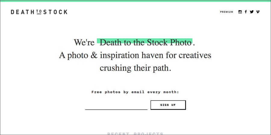 Death to Stock free stock photography site