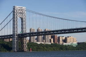 Free stock pic of the George Washington Bridge on a sunny afternoon.