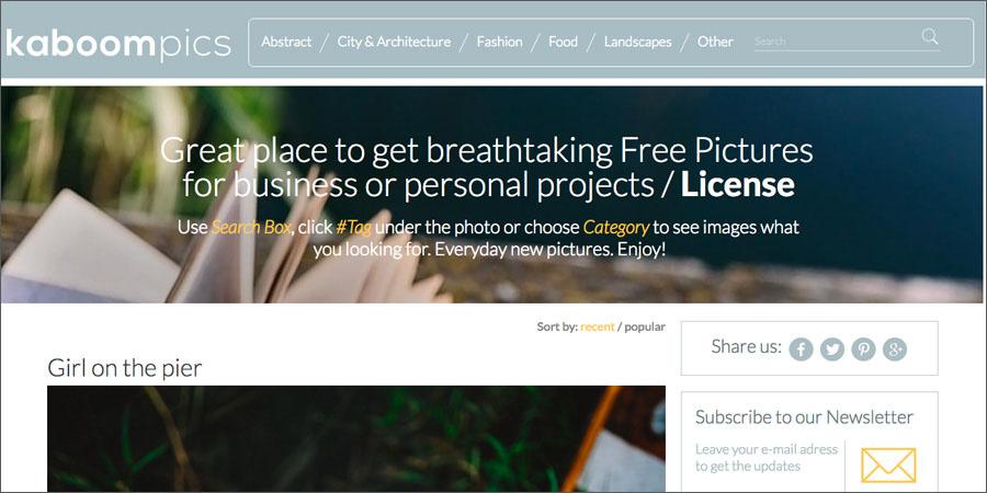 Kaboom Pics free stock photography website