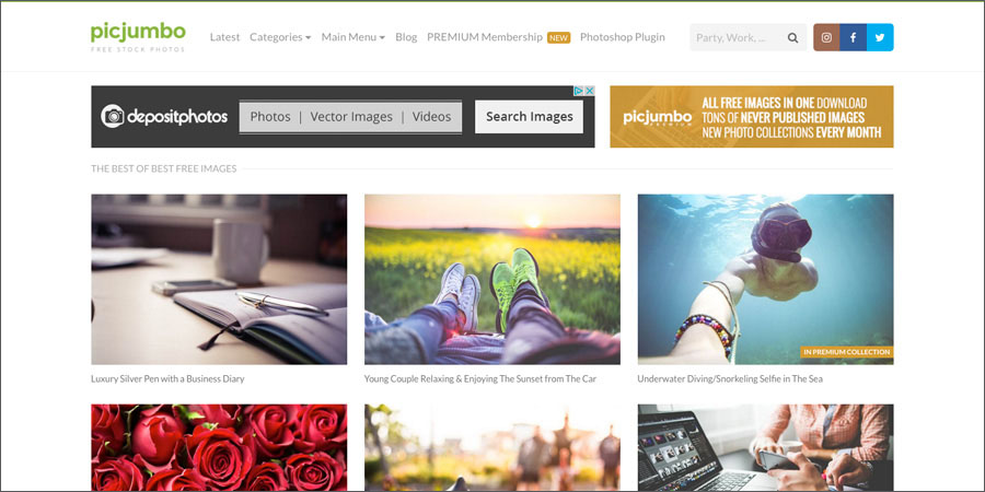 PicJumbo.com offers free stock photography