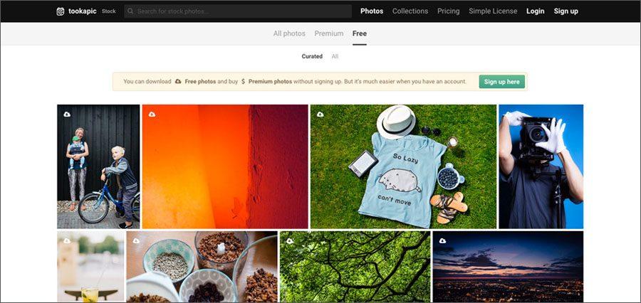 TookAPic free stock photo site