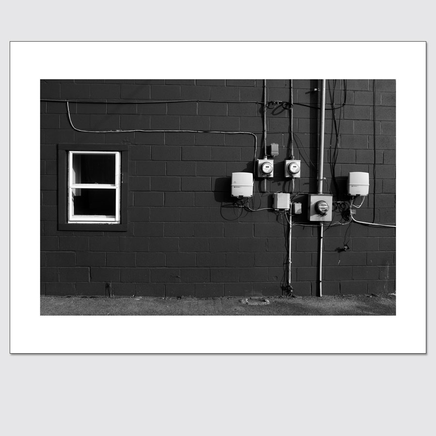 Windows and Electrical boxes photo print