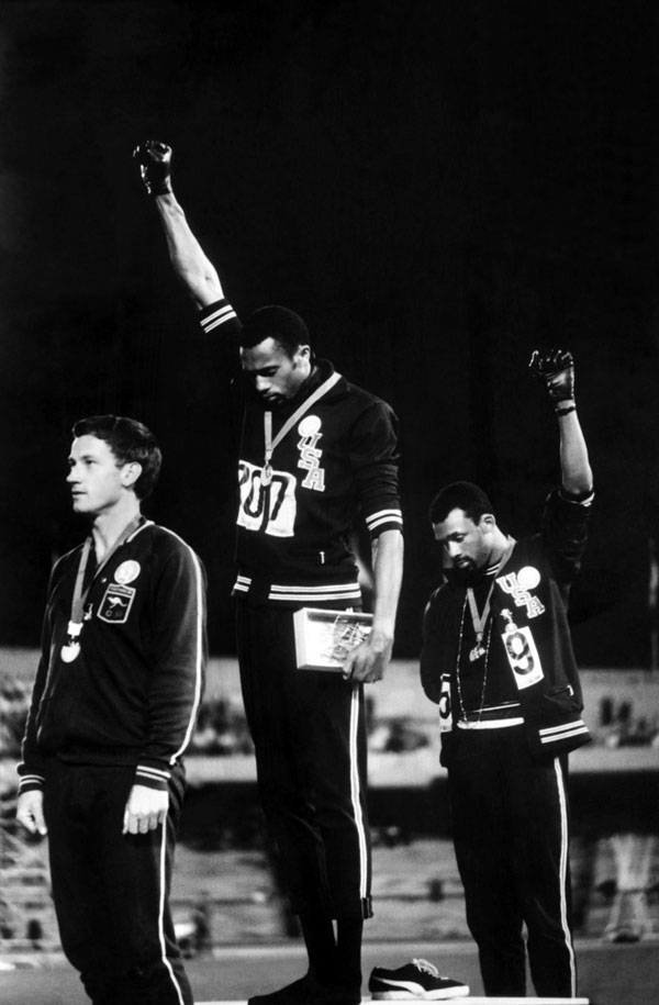 Black Power Salute at 1968 Olympics in Mexico City by John Dominis, 1968.