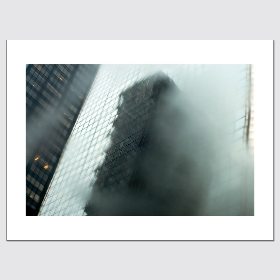 Building reflections in windows abstract limited edition wall art