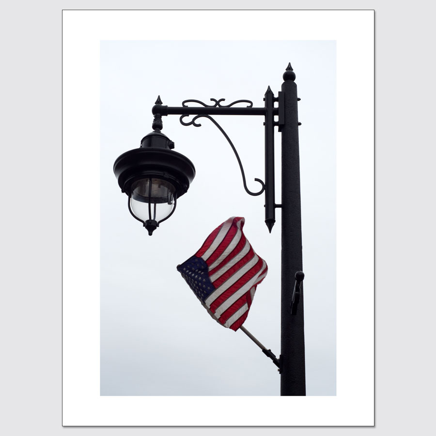 American flag in wind limited edition photo print
