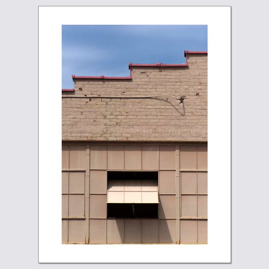Auto garage window limited edition photo print