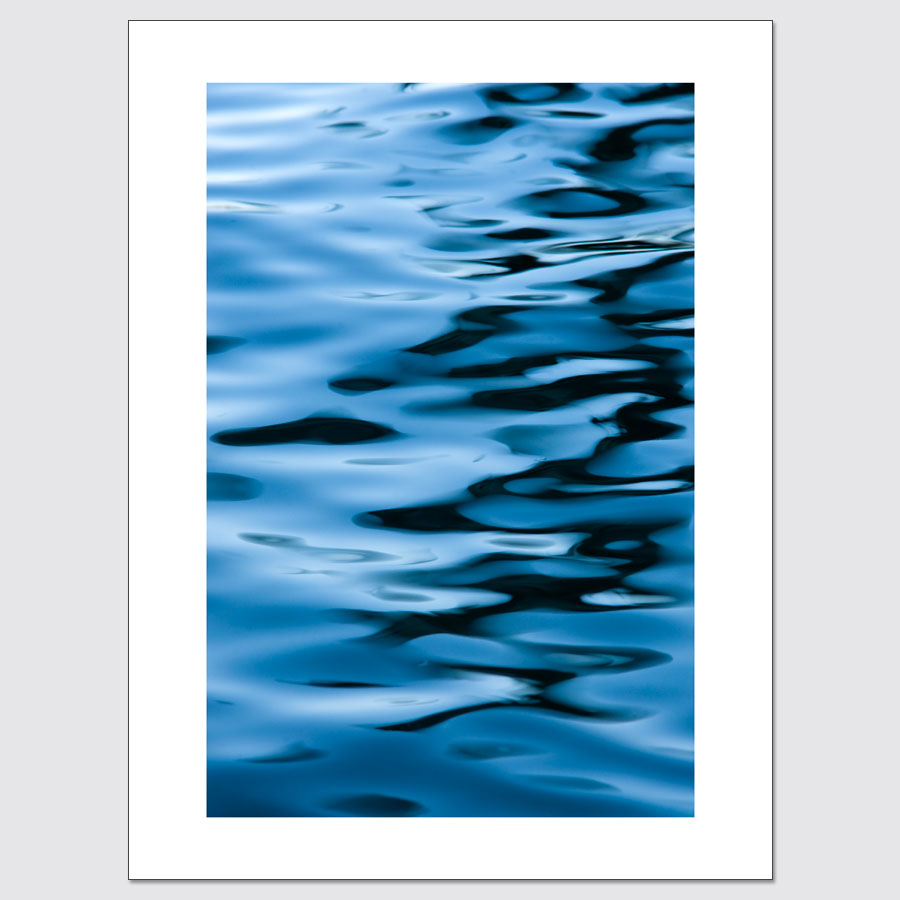 Blue and black reflections limited edition photo print