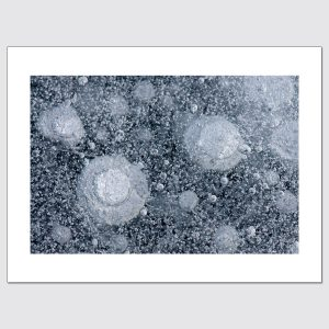 Bubbles in lake ice limited edition photo print