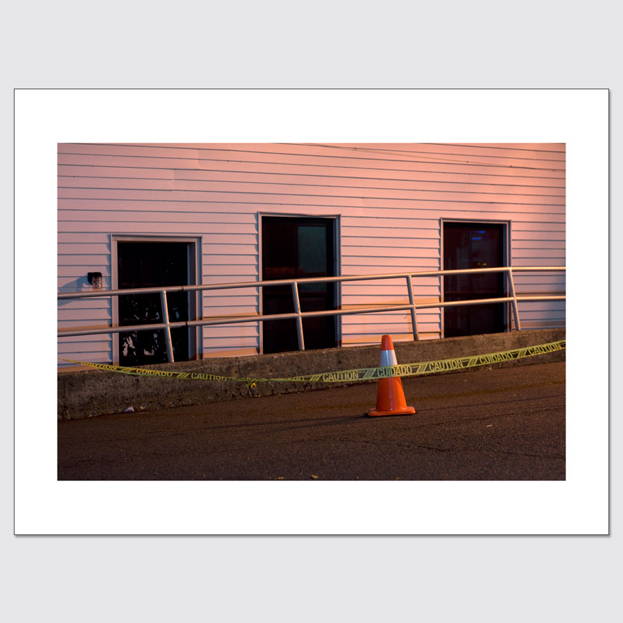 Caution tape and construction cone limited edition photo print