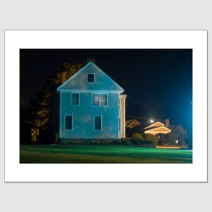 House in Jamestown, RI at night limited edition photo print