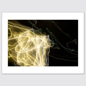 Yellow and white light painting limited edition wall art