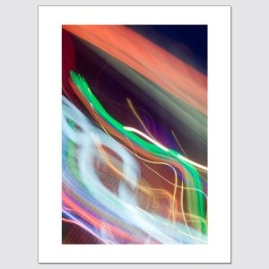Colorful neon light trails limited edition photographic print
