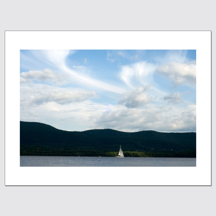 Sailboat on Hudson limited edition photographic print