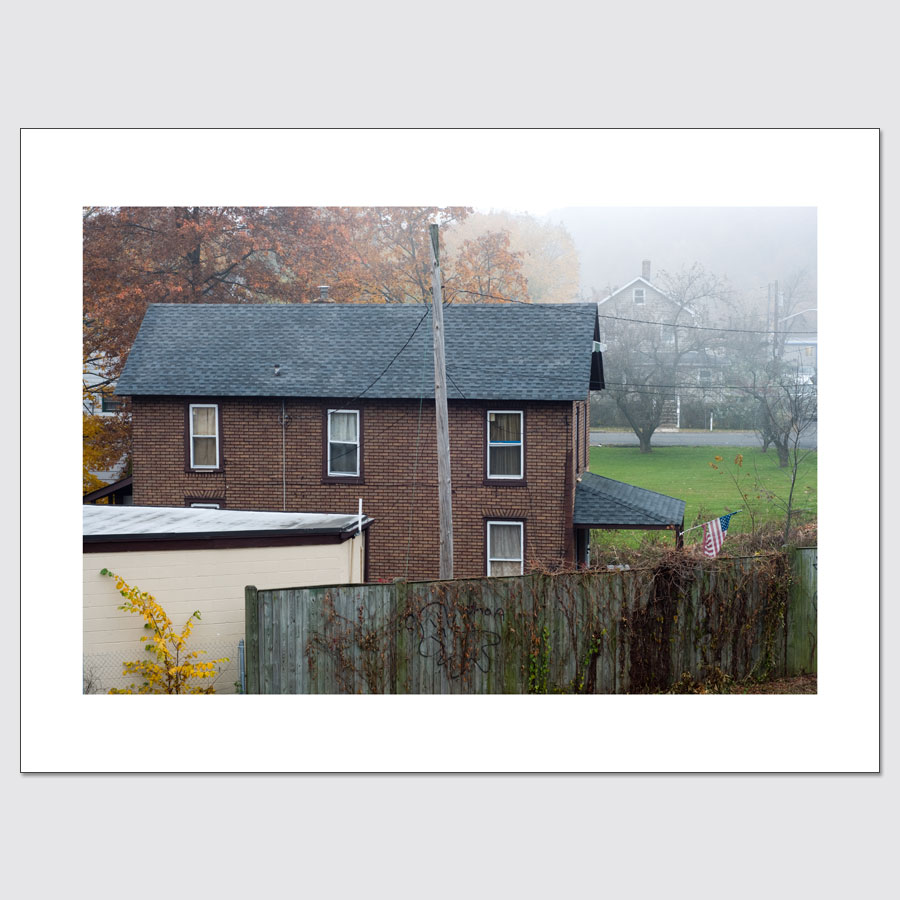 Limited edition wall art of suburban home in Rockland County, NY.