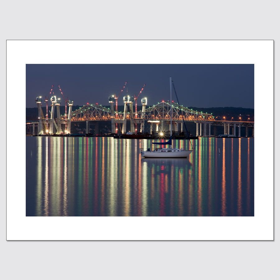 High-end wall art of the Tappan Zee Bridge construction