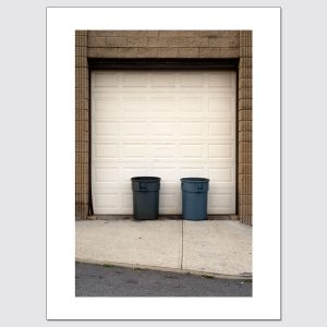 Pair of trash cans and garage door limited edition photo print