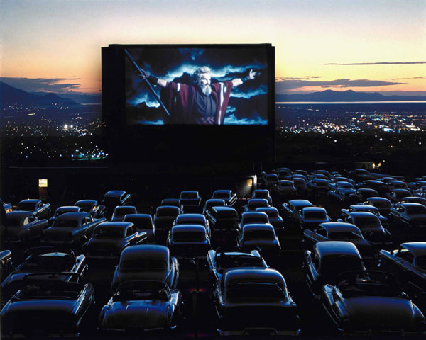 The Ten Commandments movie at a drive-in theater in Utah by LIFE photographer J.R. Eyerman.