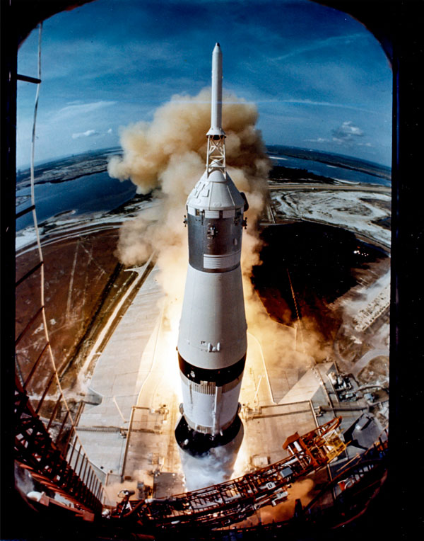 Apollo 11 launch in 1969 by LIFE photographer Ralph Morse.