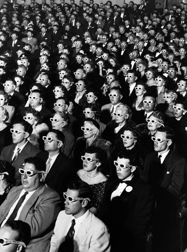 Audience at Bwana Devil in 3D by J.R. Eyerman.