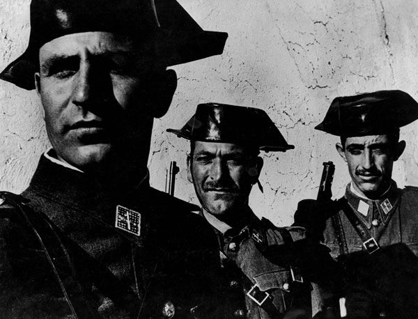Three members of the Guardia Civil by W. Eugene Smith.