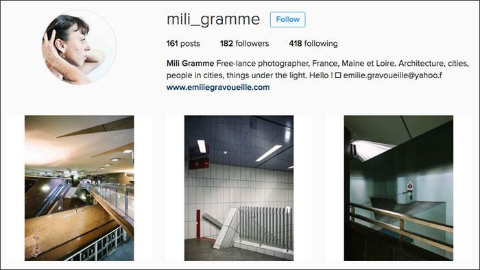 Mili Gramme Instagram profile