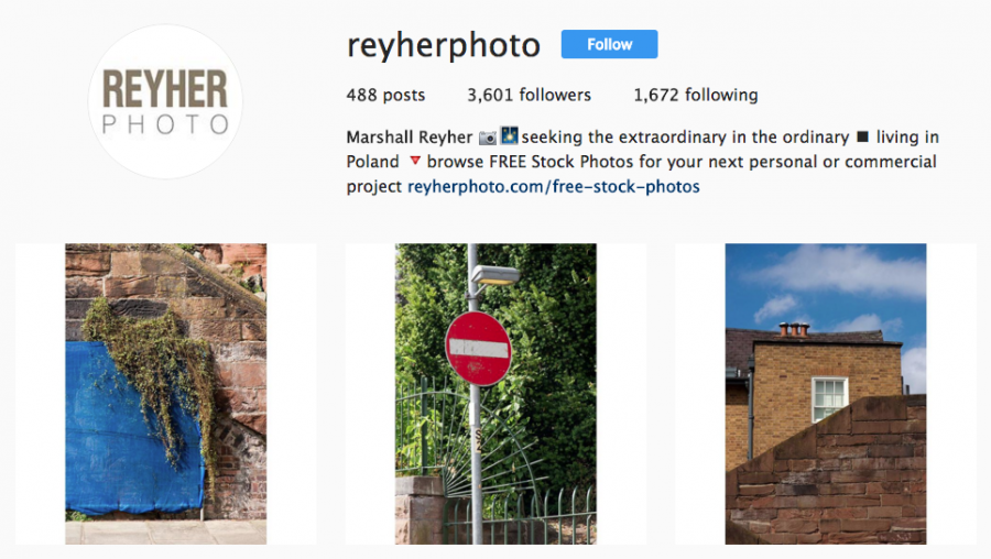 Reyher Photo Instagram profile